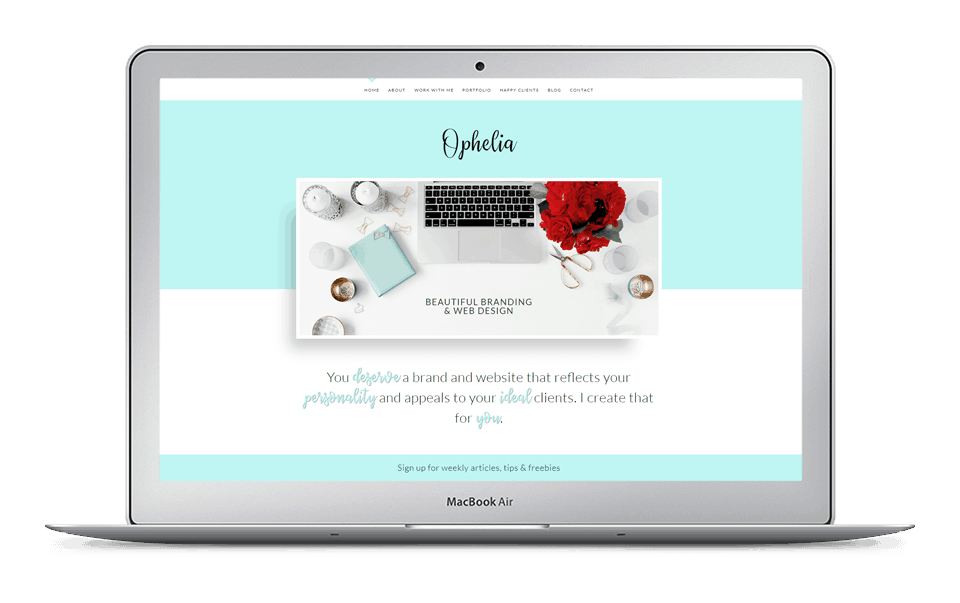 30% Off Ophelia Divi Child Theme