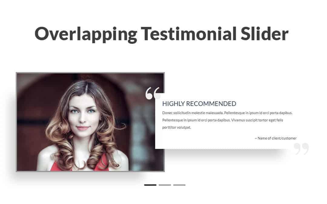 Week 34: Overlapping Testimonial Slider