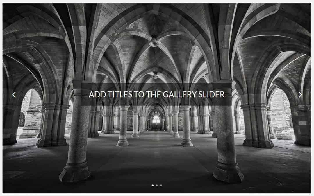 Week 65 – Add Titles to the Gallery Slider
