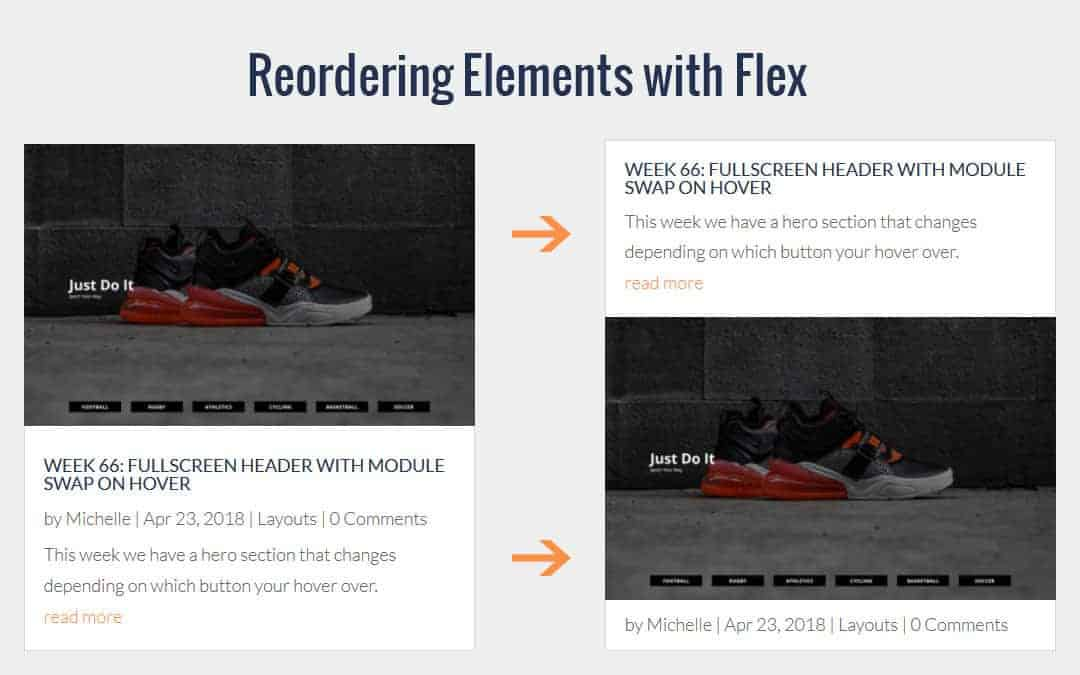 Week 74 – Reordering Elements with Flex