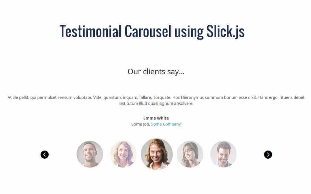 Week 81: Testimonial Carousel using Slick.js