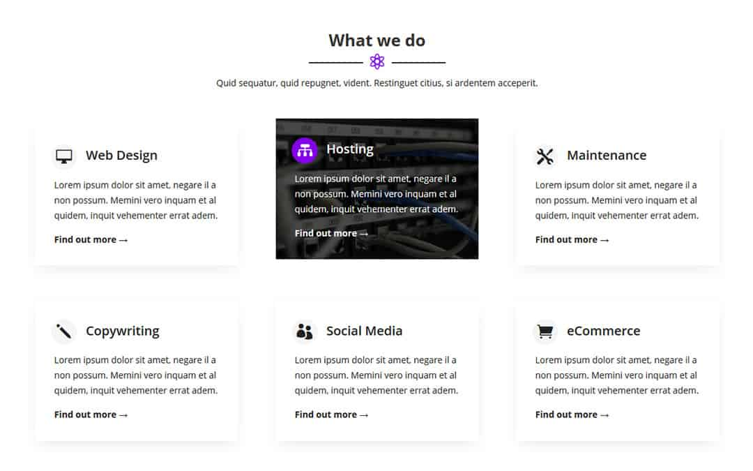 Week 109: Services Section Using Divi's Hover Settings