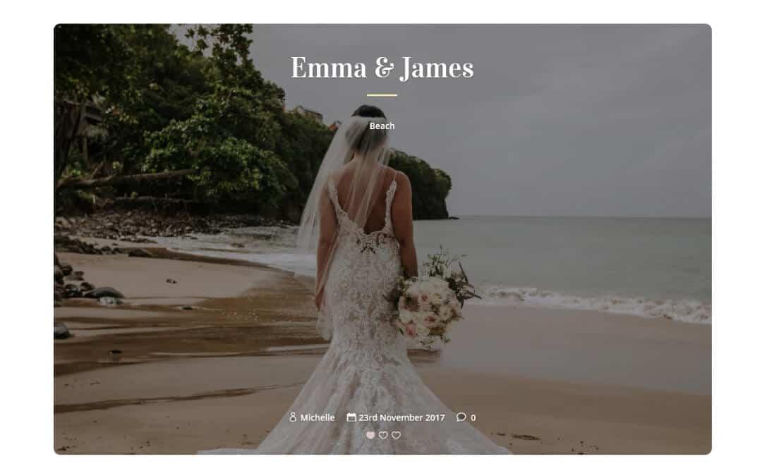 Week 125: Wedding Blog Layout
