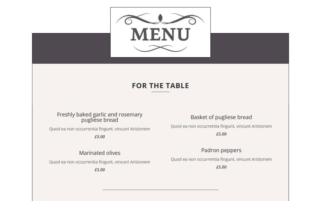 Week 159: Responsive Resturant Menu