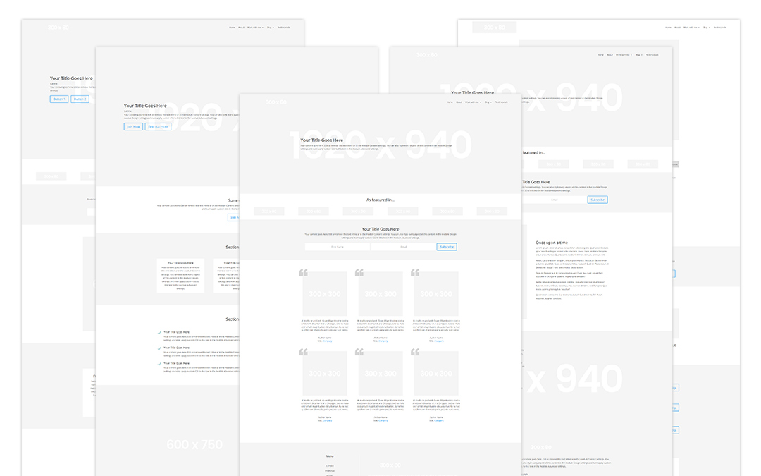 Week 198: Wireframe Website kit