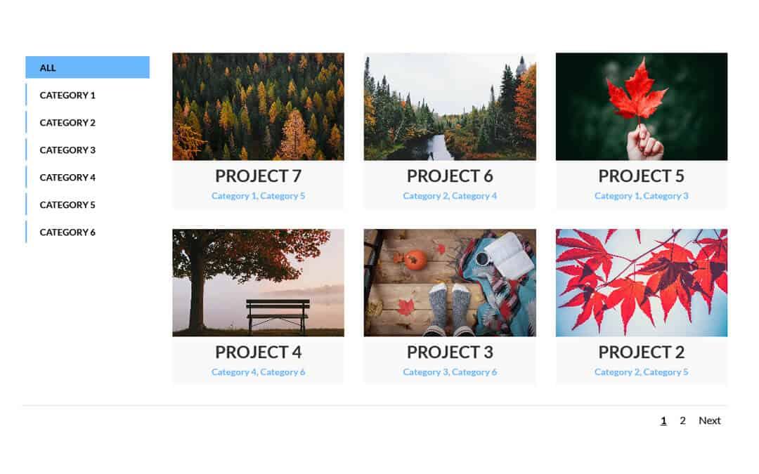 Week 242: Two Column Filterable Portfolio